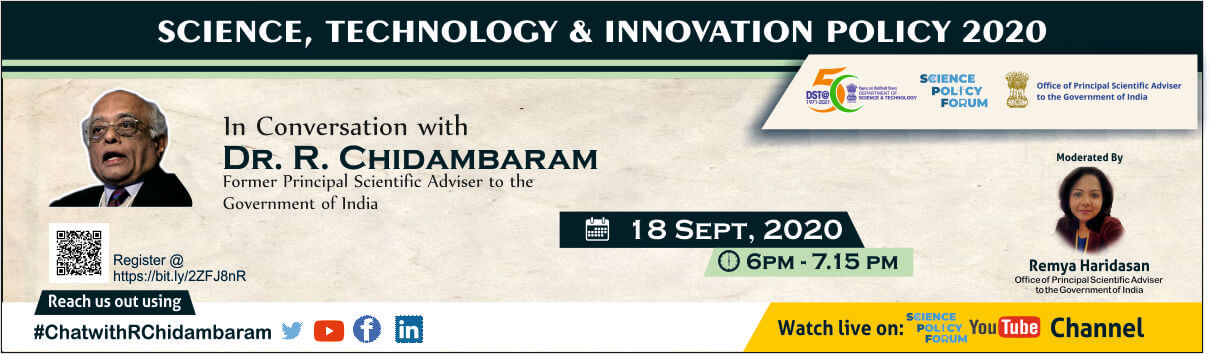 'In Conversation with' Dr R Chidambaram